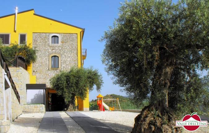 Il casale valle dell etna scivola ingresso ulivo